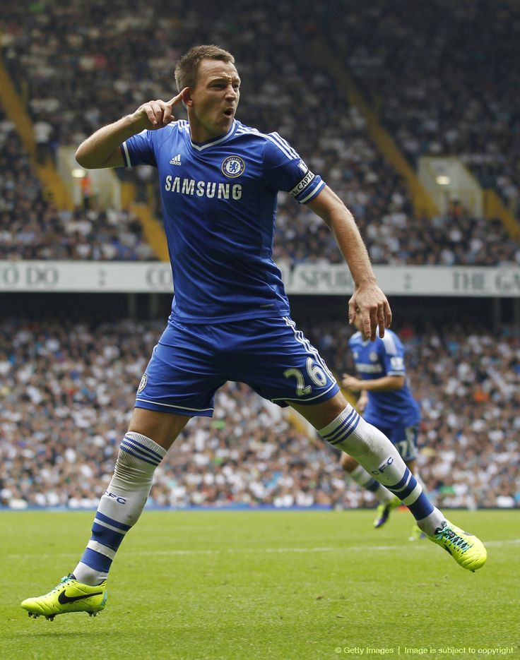 John Terry scored for Chelsea. Tottenham 1-1 Chelsea. Premier League. Saturday, September 28, 2013.