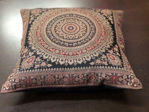 Elephant Mandala Indian Traditional Ethnic Pillow Cover Rectangle Cushion Case