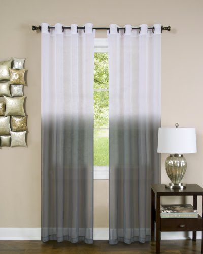 Achim Home Furnishings Essense Grommet Window Curtain Panel Charcoal 52 x 63-Inch