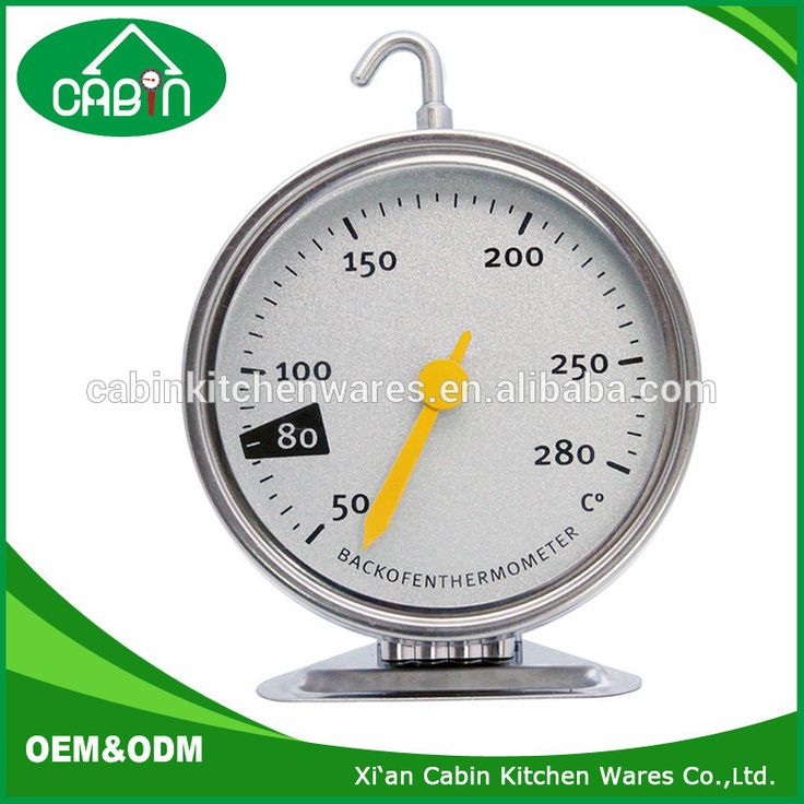 Stainless Steel Dial Oven Thermometer Grill Temperature Gauge For Home Kitchen Food Meat - Hang or Stand in Oven