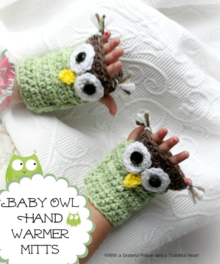 Free Crochet Pattern For Owl Hand Warmers : 17 best images about hand warmers on Pinterest Free ...