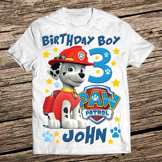 19 Best Paw Patrol Birthday Shirts Images On Pinterest