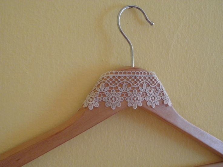 decorated hanger - by me
