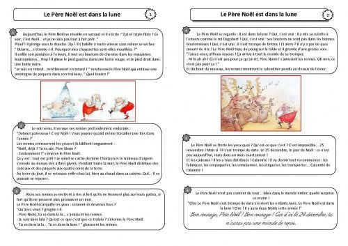 Plusieurs lectures du soir pour Noël -CE1-CE2