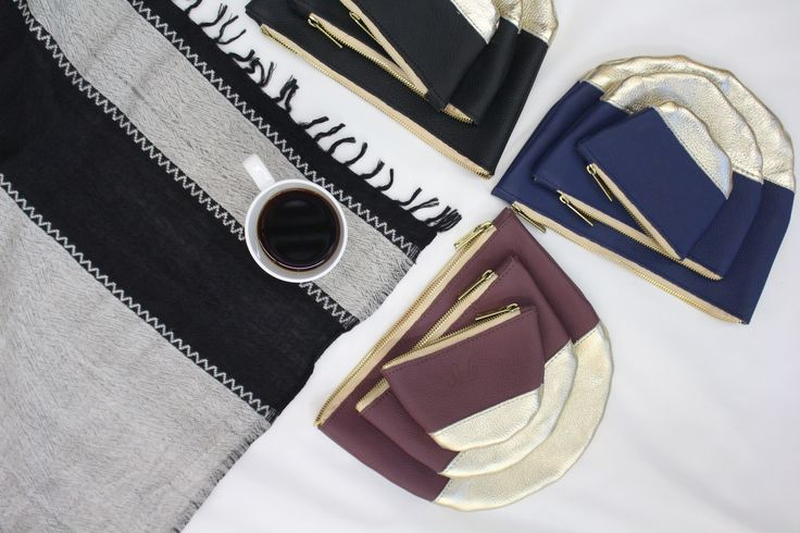 Moon Clutches in Mulberry, Blue Nile, and Black! Perfect pairing for every purse! #clutch