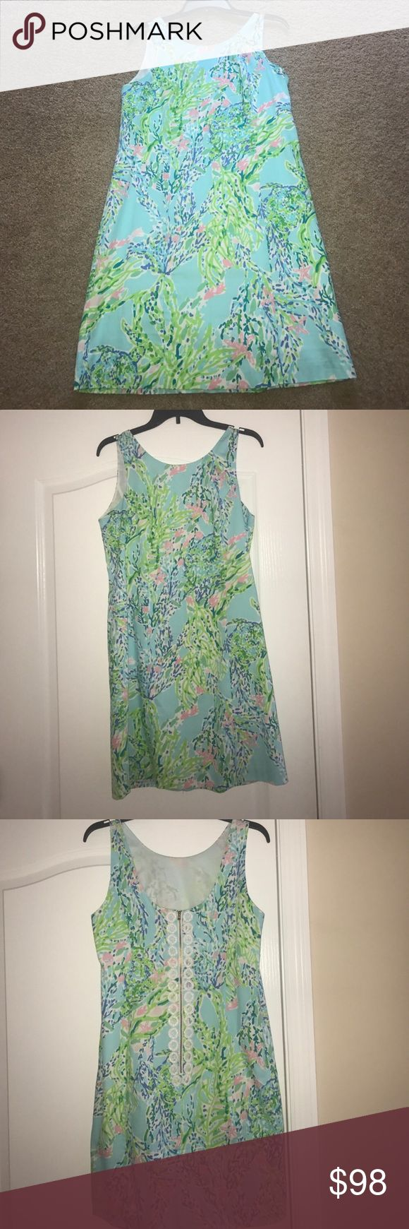 💙 LILLY PULITZER SHIFT DRESS 💙 Perfect Skye Blue Heaven LILLY PULITZER DRESS worn once!! In perfect condition! AMAZING DRESS FOR SUMMER! Super flattering shift!💙💙💙🐠🐠 Lilly Pulitzer Dresses Midi