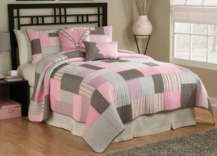 Pink Brown White Tyler Plaid Quilt Comforter Bedding | eBay1027 x 740 | 180.8 KB | www.ebay.com