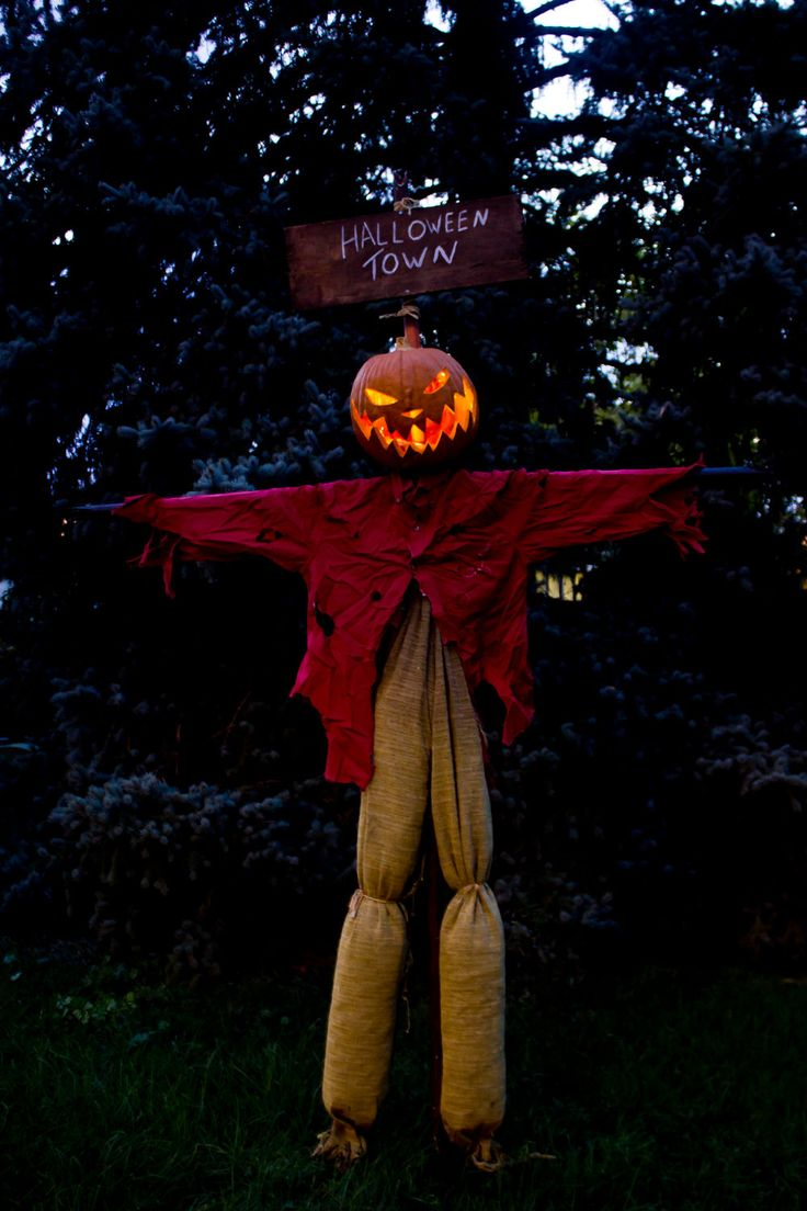 Nightmare before christmas inspired pumpkin king scarecrow - Jack skellington decorations halloween ...