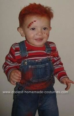 chucky costumes for kids | Coolest Homemade Baby Chucky and Bride of Chucky Costume 7