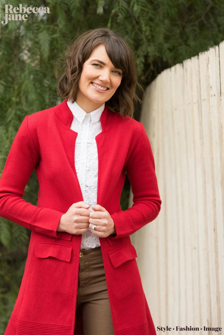 Winter red coat, merino wool #cablemelbourne