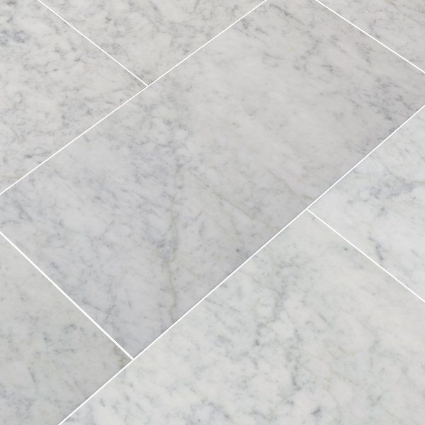 Carrara 12 X 24 Marble Field Tile Tiles White Marble Tiles Carrara