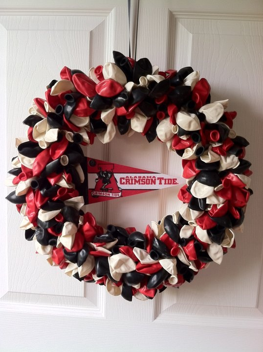 Alabama Crimson Tide balloon wreath