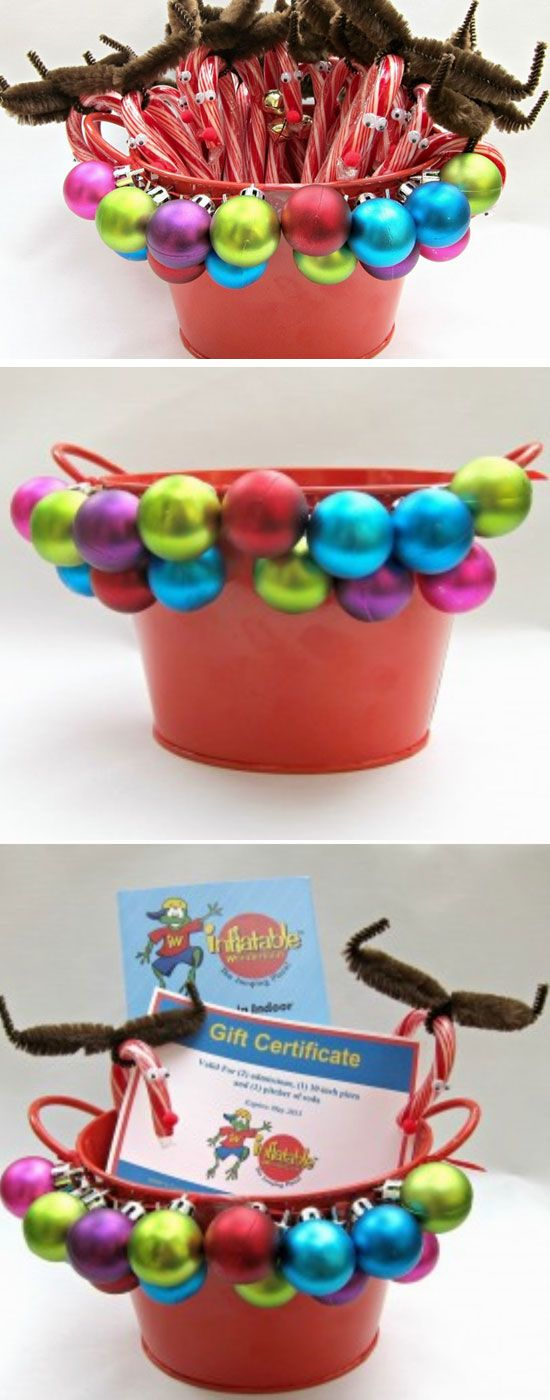 Deer Candy Canes | DIY Christmas Baskets for Teens | Easy Gift Ideas for Teen Girls