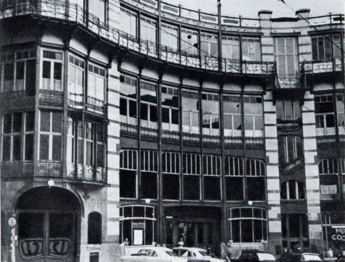 Народный дом, арх. В. Орта, Брюссель, 1897  МОДЕРН