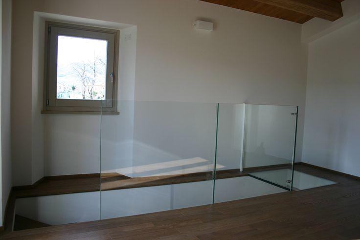 Parapetto in vetro con ballatoio Pesaro