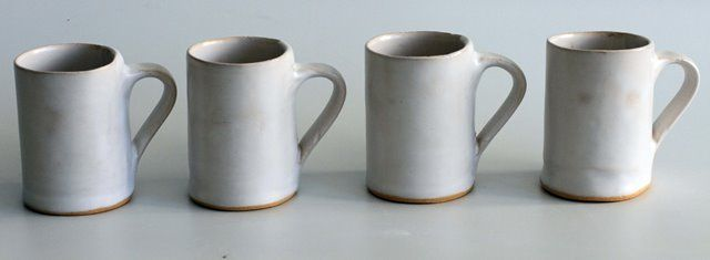 Selection of cups in white. For more products from this range or to view our wide variety of ranges visit www.mervyngers.com
