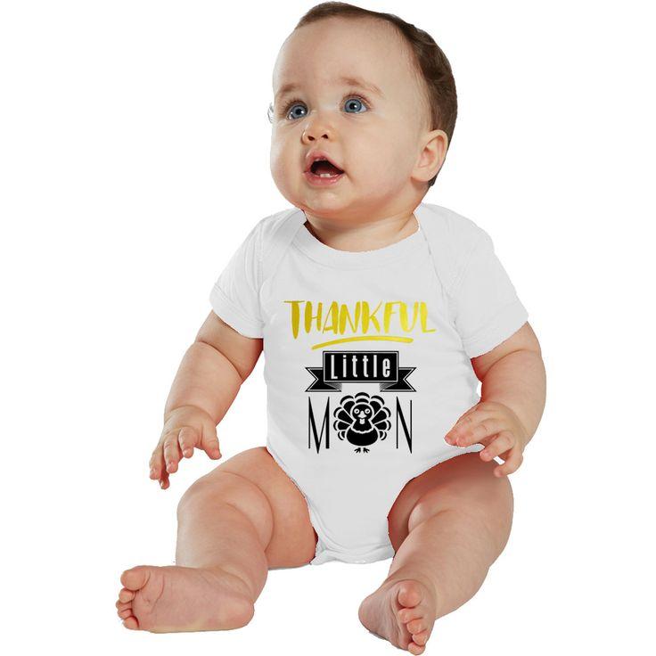 Thankful Little Man baby bodysuit or boy shirt by bodysuitsbynany on Etsy