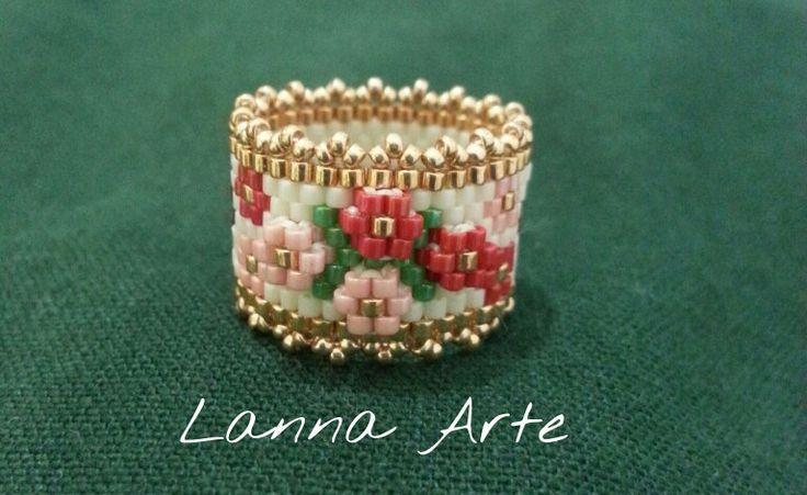 Lanna Arte peyote embellished ring