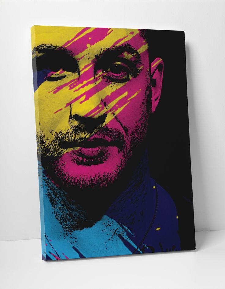 Tom Hardy Pop Art portrait #tomhardy #taboo #MrH #popart #canvas