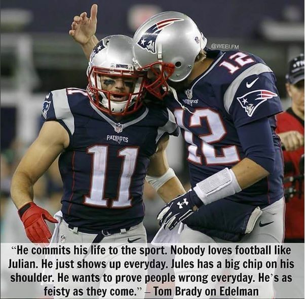 TB12 on JE11! #FootballIsLife #Committed #Feisty #NEPats
