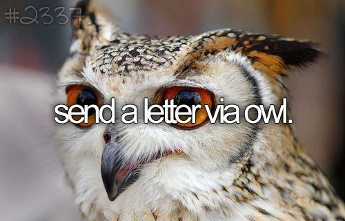 send a letter via owl