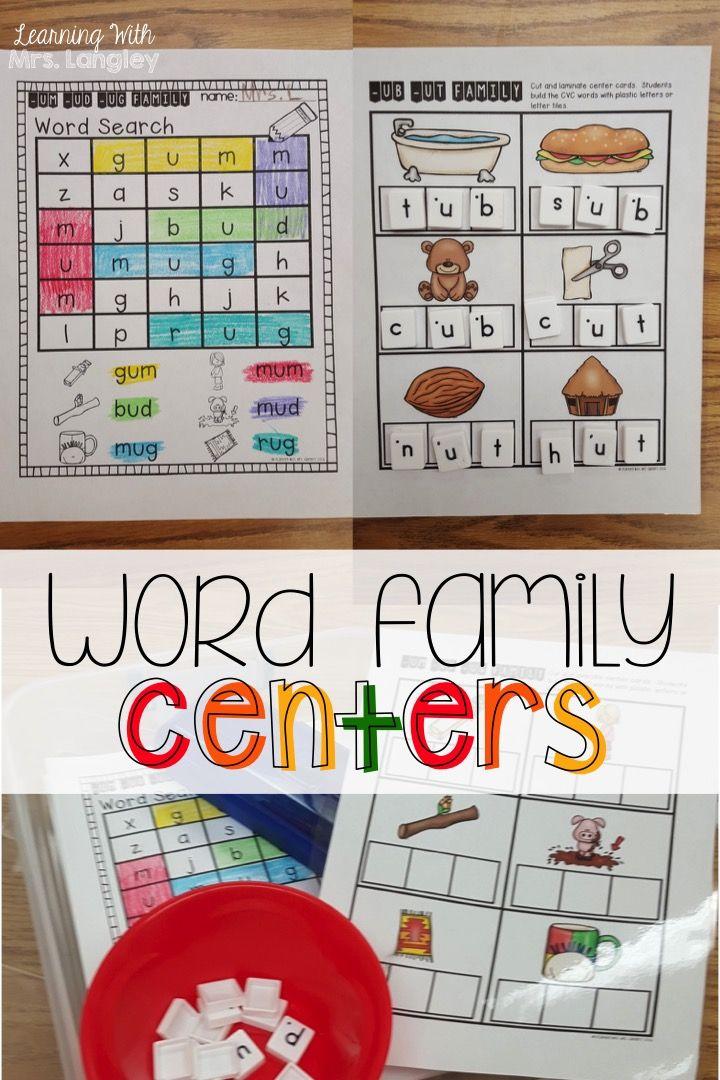 55 besten word families Bilder auf Pinterest   Betten, Kindergarten ...