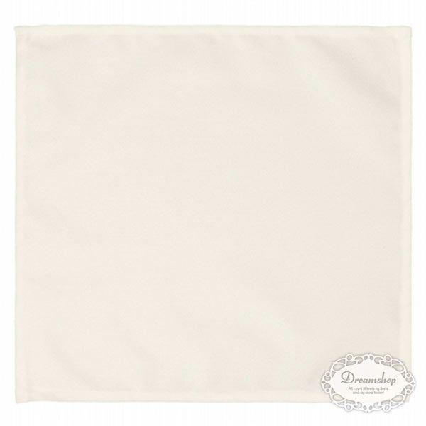 Stofservietter i creme farve til brug, når vi får gæster Skal kunne vaskes og genanvendes