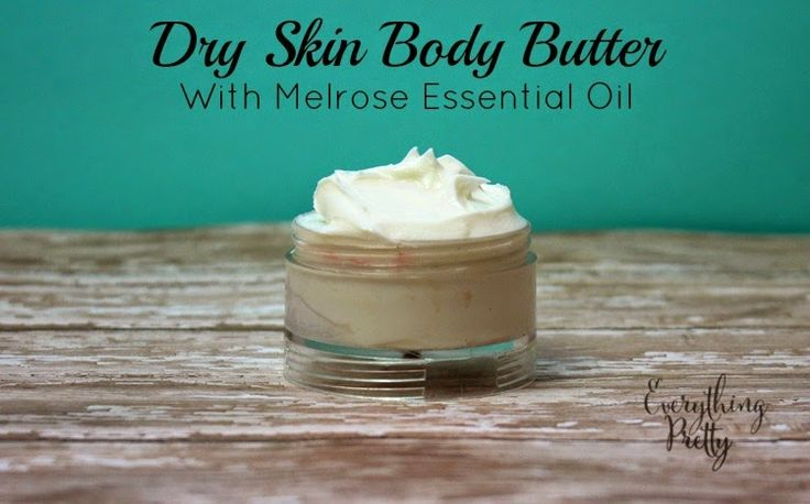 Dry Skin Body Butter Recipe with Young Living Melrose Oil