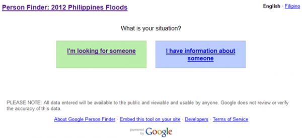 Google Person Finder Helps Locate Missing Persons In Philippine Floods - When earthquake rattled Haiti in 2010, it was realized that there was no portal that could consolidate the information on missing persons from multiple databases. There were many databases and it became hard for people to search through all of them. To tackle this problem, Google launched its 'Person Finder' service in 2010. [Click on Image Or Source on Top to See Full News]