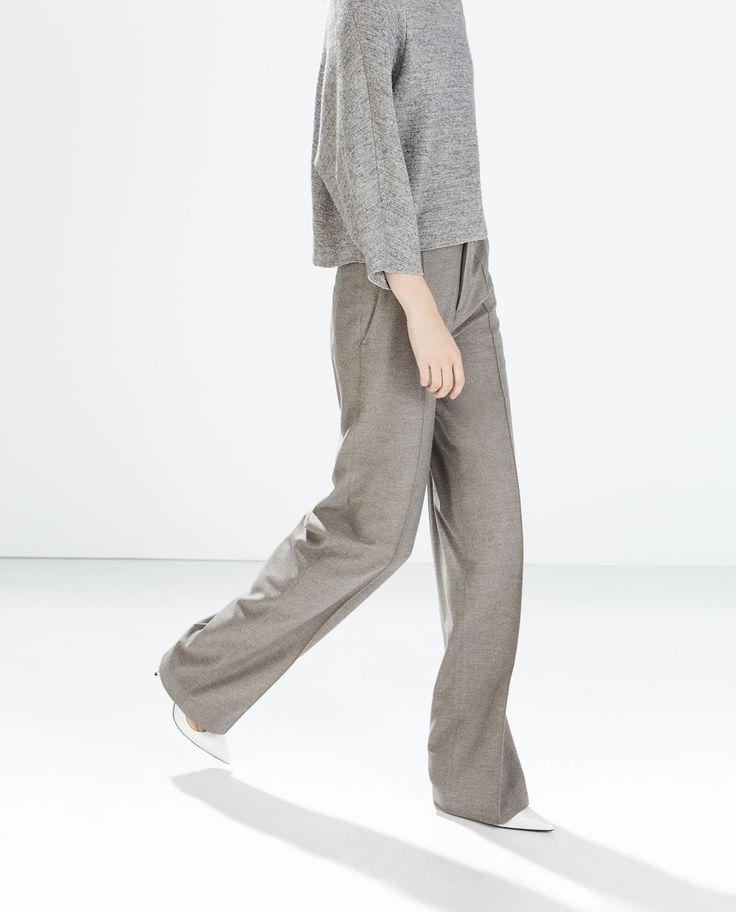 ZARA high-waisted wide trousers