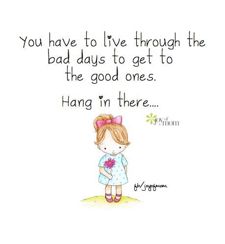 You have to live through the bad days to get to the good ones. Hang in there... #Chronic pain.. it's hard to remember!