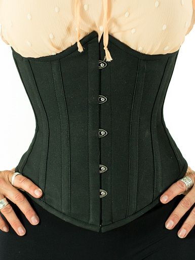 Super comfortable. Steel Boned Underbust Corset in Cotton (CS-345) Found at www.orchardcorset.com