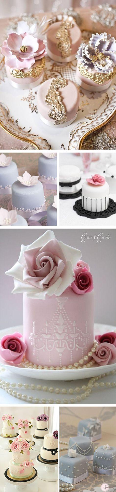 Hola a tod@s, En el post de hoy os quiero enseñar algunas opciones alternativas para el postre de vuestra boda, las mini cakes o mini tartas. ¡Son tan monas…! Y tienen una pinta que no os podréis resi