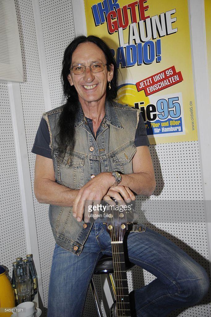 Uriah Heep - Band, Rock music, UK - Singer Ken Hensley at 'Radio Hamburg' -