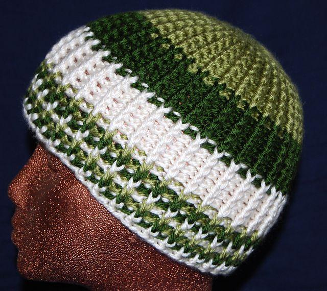 Free knit look crochet hat pattern