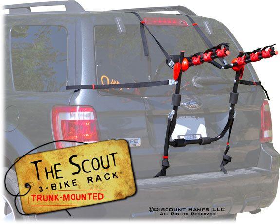 Scout Trunk Bike Rack - 3 Bike Capacity