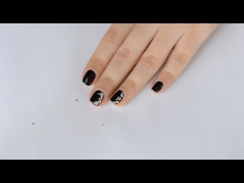 Простой дизайн ногтей   Simple nail art 1 - YouTube