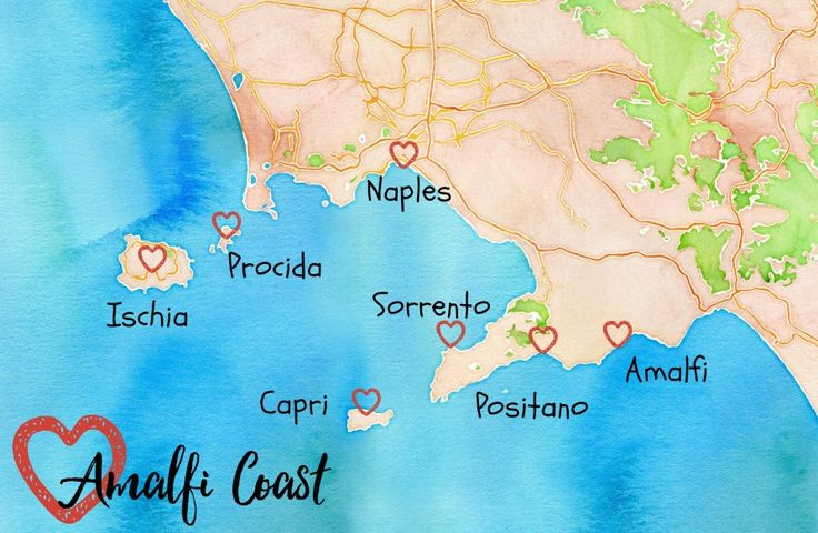 The Amalfi Coast Map and Towns to Visit