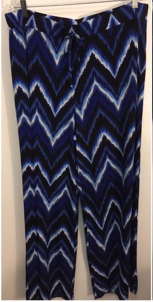 STYLE & CO Palazzo Wide Leg Chevron Pants - Size XL #Styleco #WideLegPalazzo