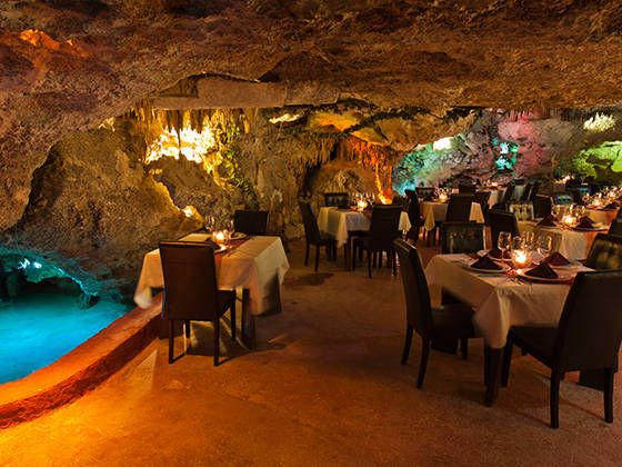Playa Del Carmen Mexico Caves | Alux Caverna Restaurant Lounge in Playa del Carmen Mexico.