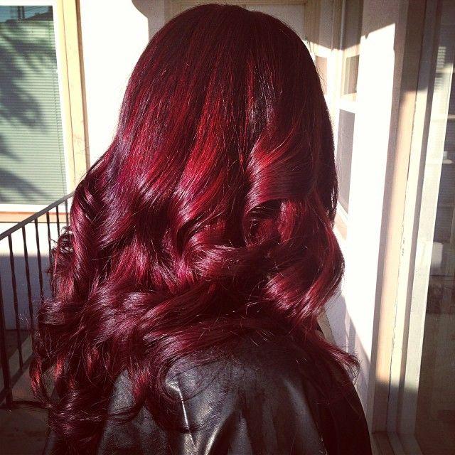 Deep red hair color, vibrant burgundy, dark red. MY HAIR COLOR GOAL!!!! ;D