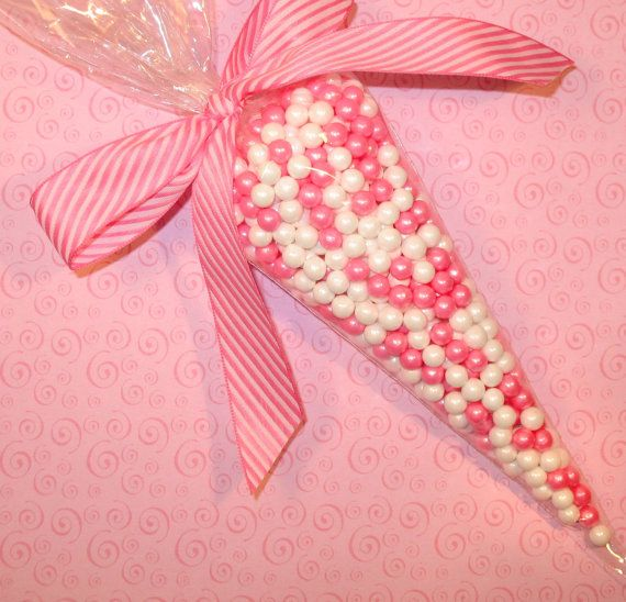Cellophane cone bags $3.00 for 10, ribbon seperate