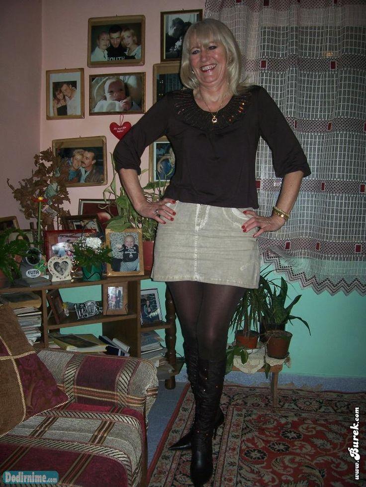 Blonde pantyhose gilf   Mature 3   Skirts, Fashion ...