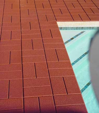 Rubber Paving Tiles Can Cover Up Unsightly Cement Around Pools,patios And  On Garage Floors
