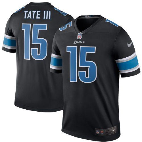 f9c08e4a1 ... Mens Detroit Lions Golden Tate Nike Black Color Rush Legend Jersey  Quandre Diggs 28 ...