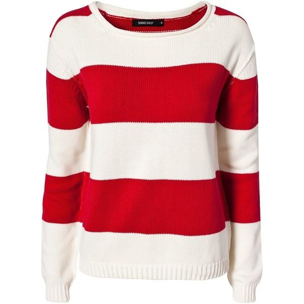 Rut M.Fl. Earl Wide Stripe Knit ($26) ❤ liked on Polyvore