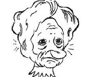 Think this is an old lady? Look again,see the upside down princess? Click on pic to see 50 optical illusions.