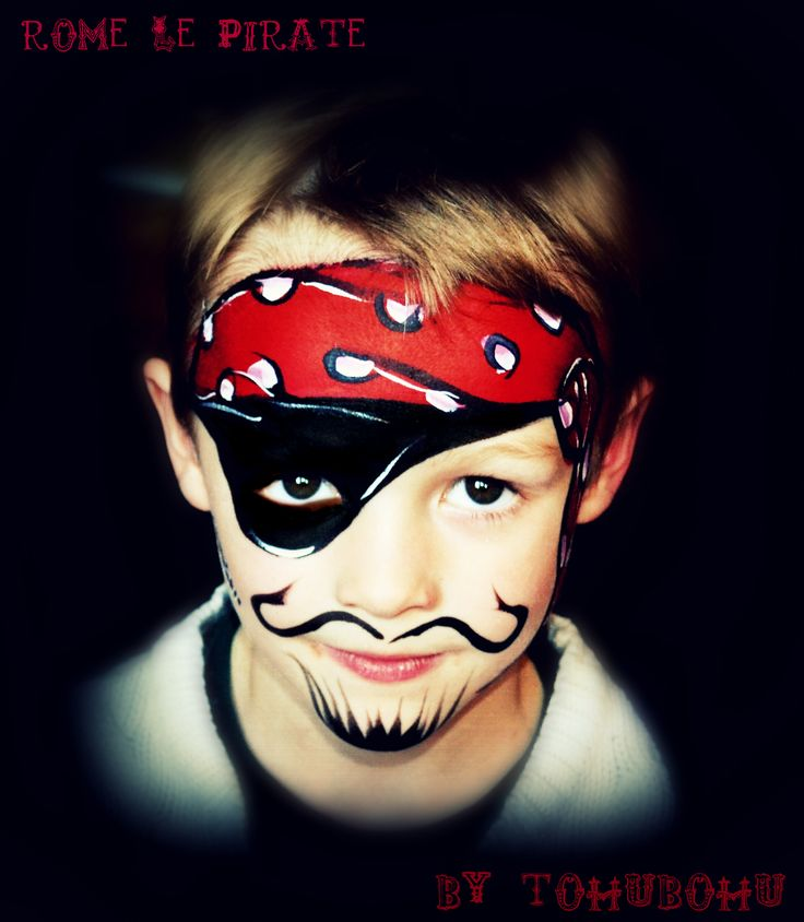 Best 25 pirate face paintings ideas on pinterest pirate face kids face paints and superhero - Maquillage halloween garcon ...