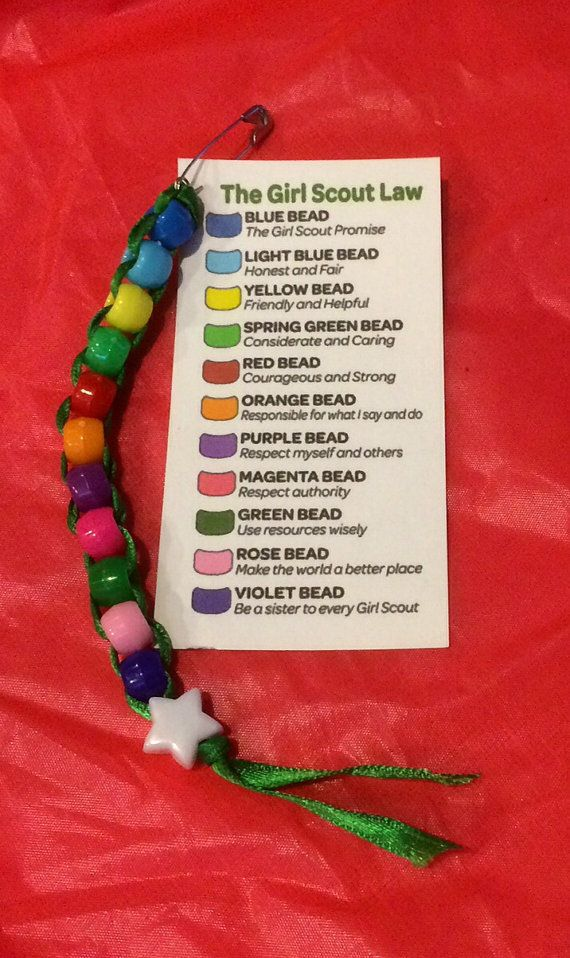 Girl Scout SWAPs Kit ~ GS Promise and Law ~ Beaded Scout Troop Craft Activity for 12 ~ Girl Scouts