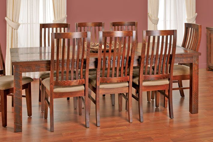 Euroa - Recycled Messmate - 9 piece dining setting